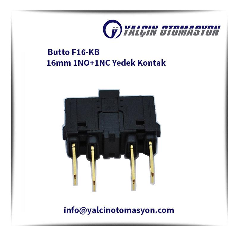 Butto F16-KB 16mm 1NO+1NC Yedek Kontak