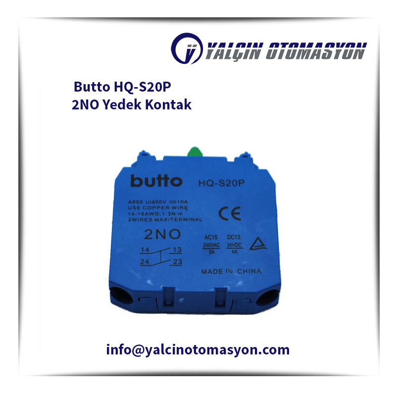 Butto HQ-S20P 2NO Yedek Kontak