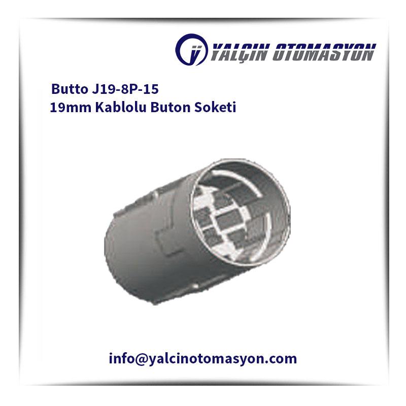 Butto J19-8P-15 19mm Kablolu Buton Soketi