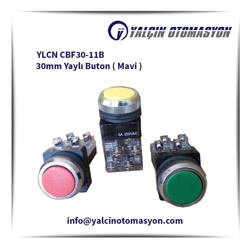 YLCN CBF30-11B 30mm Yaylı Buton ( Mavi )