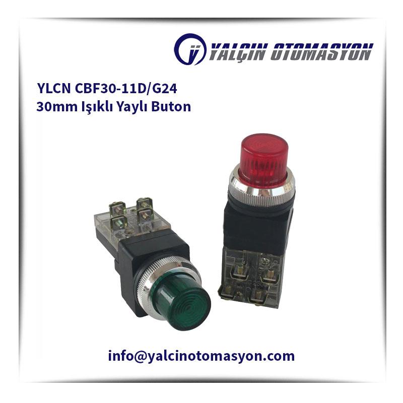 YLCN CBF30-11D/G24 30mm Işıklı Yaylı Buton