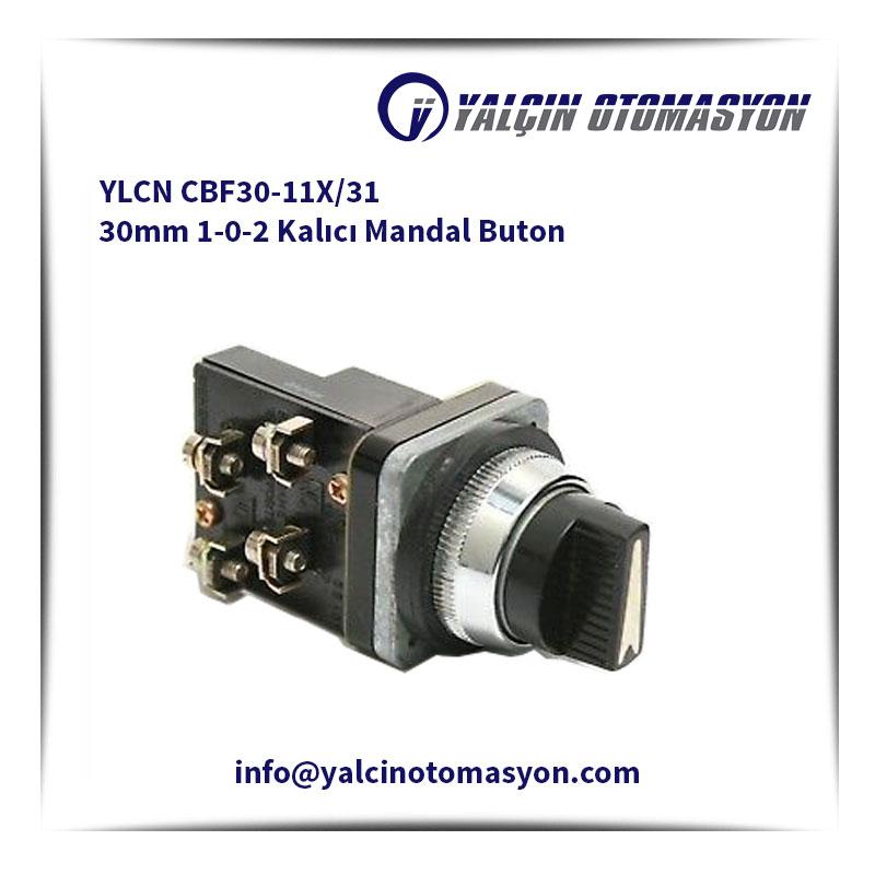 YLCN CBF30-11X/31 30mm 1-0-2 Kalıcı Mandal Buton