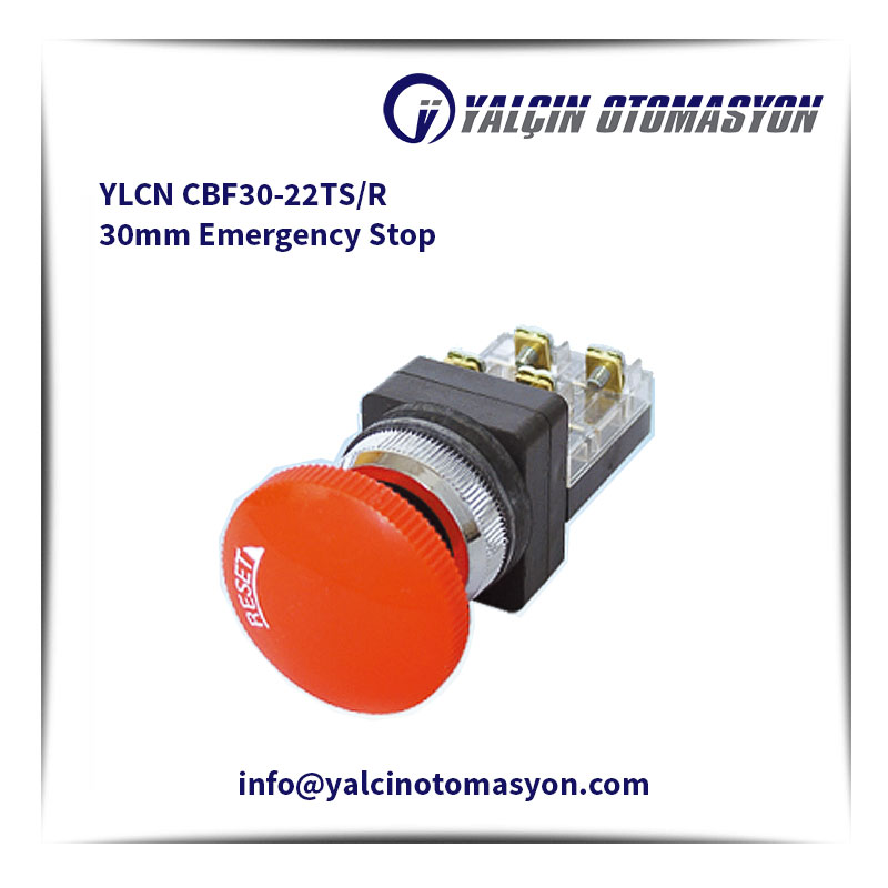 YLCN CBF30-22TS/R 30mm Emergency Stop