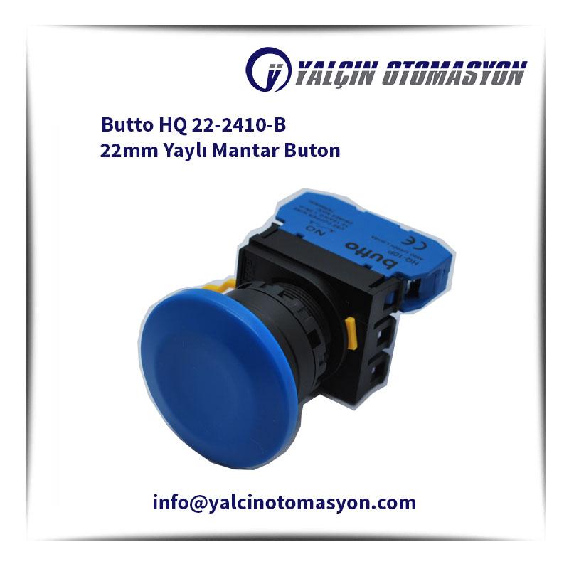Butto HQ 22-2410-B 22mm Yaylı Mantar Buton