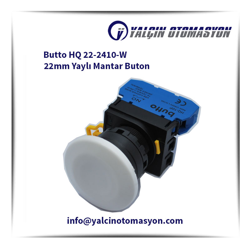 Butto HQ 22-2410-W 22mm Yaylı Mantar Buton
