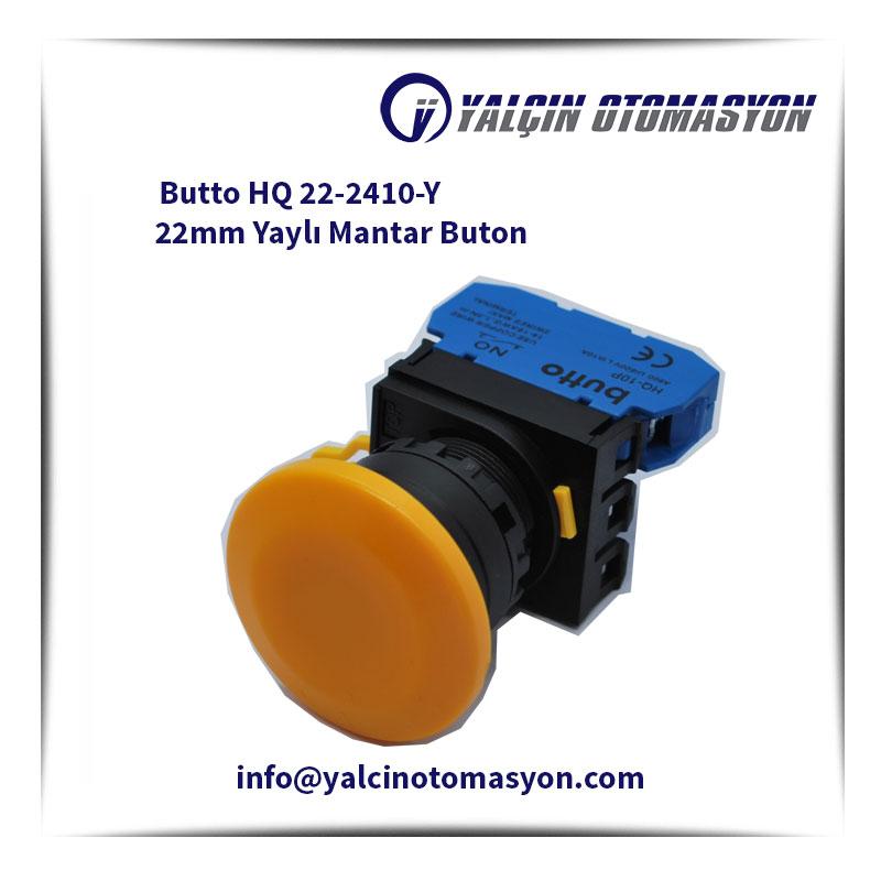 Butto HQ 22-2410-Y 22mm Yaylı Mantar Buton