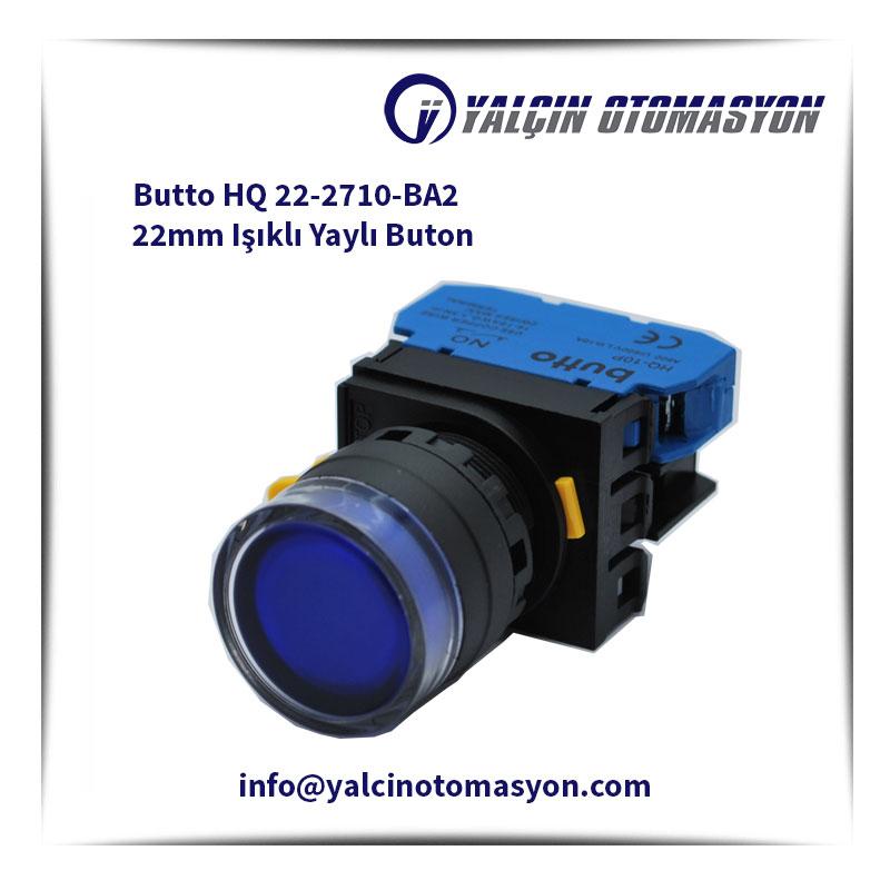 Butto HQ 22-2710-BA2 22mm Işıklı Yaylı Buton