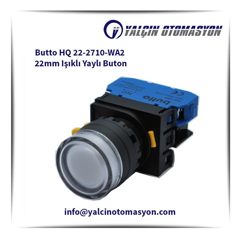 Butto HQ 22-2710-WA2 22mm Işıklı Yaylı Buton