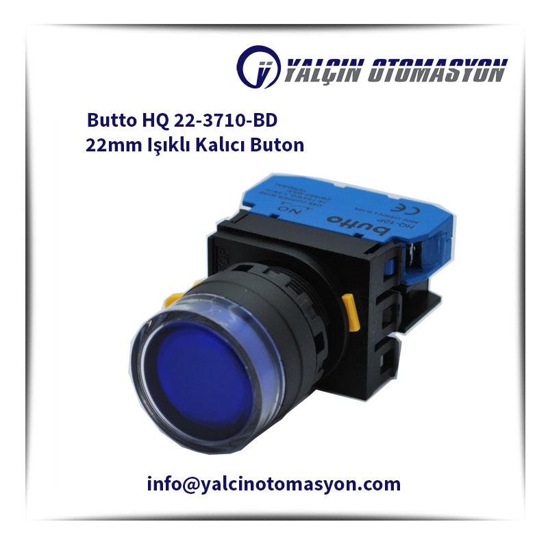 Butto HQ 22-3710-BD 22mm Işıklı Kalıcı Buton