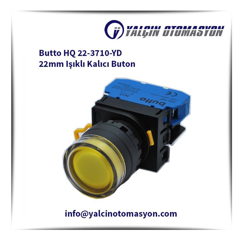 Butto HQ 22-3710-YD 22mm Işıklı Kalıcı Buton
