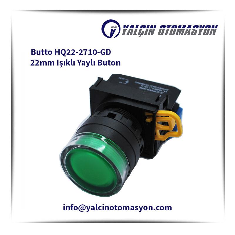 Butto HQ22-2710-GD 22mm Işıklı Yaylı Buton