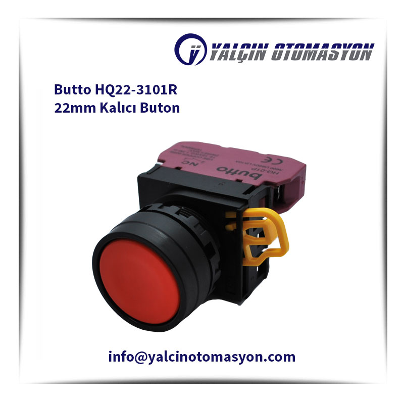 Butto HQ22-3101R 22mm Kalıcı Buton