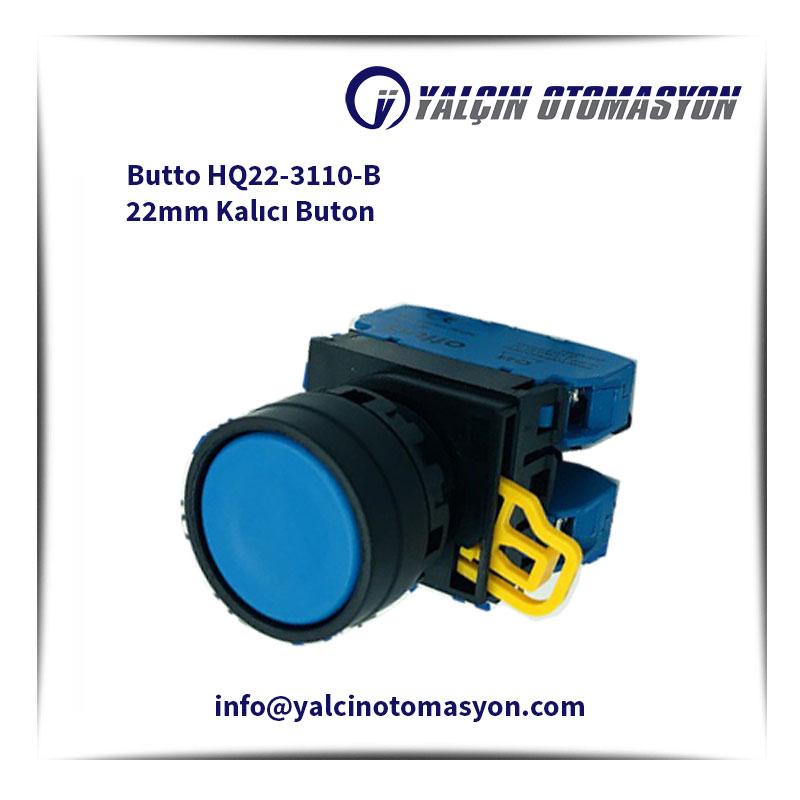 Butto HQ22-3110-B 22mm Kalıcı Buton