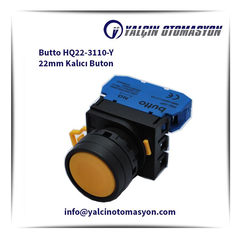Butto HQ22-3110-Y 22mm Kalıcı Buton
