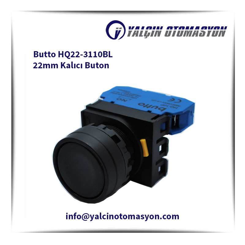 Butto HQ22-3110BL 22mm Kalıcı Buton