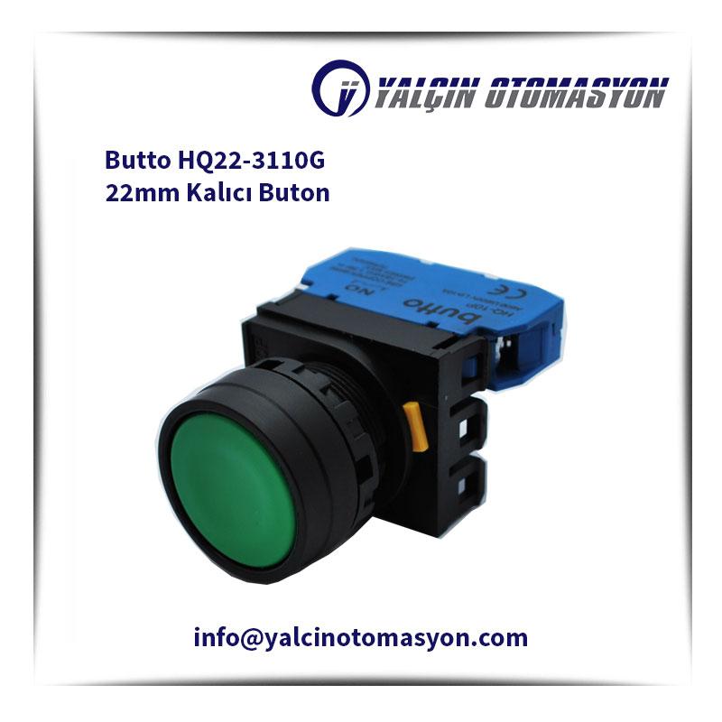Butto HQ22-3110G 22mm Kalıcı Buton