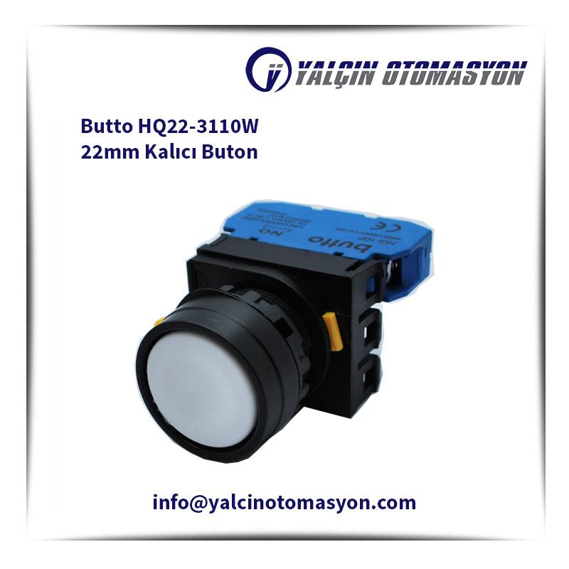 Butto HQ22-3110W 22mm Kalıcı Buton