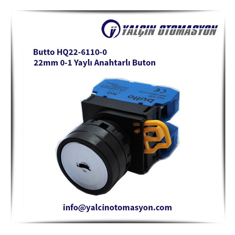 Butto HQ22-6110-0 22mm 0-1 Yaylı Anahtarlı Buton