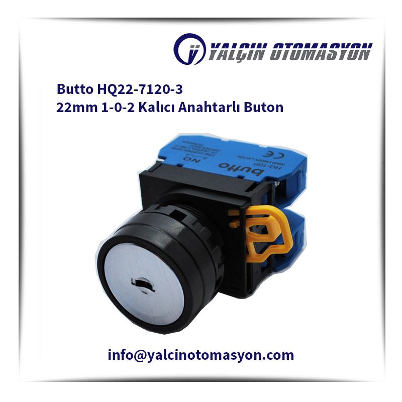 Butto HQ22-7120-3 22mm 1-0-2 Kalıcı Anahtarlı Buton