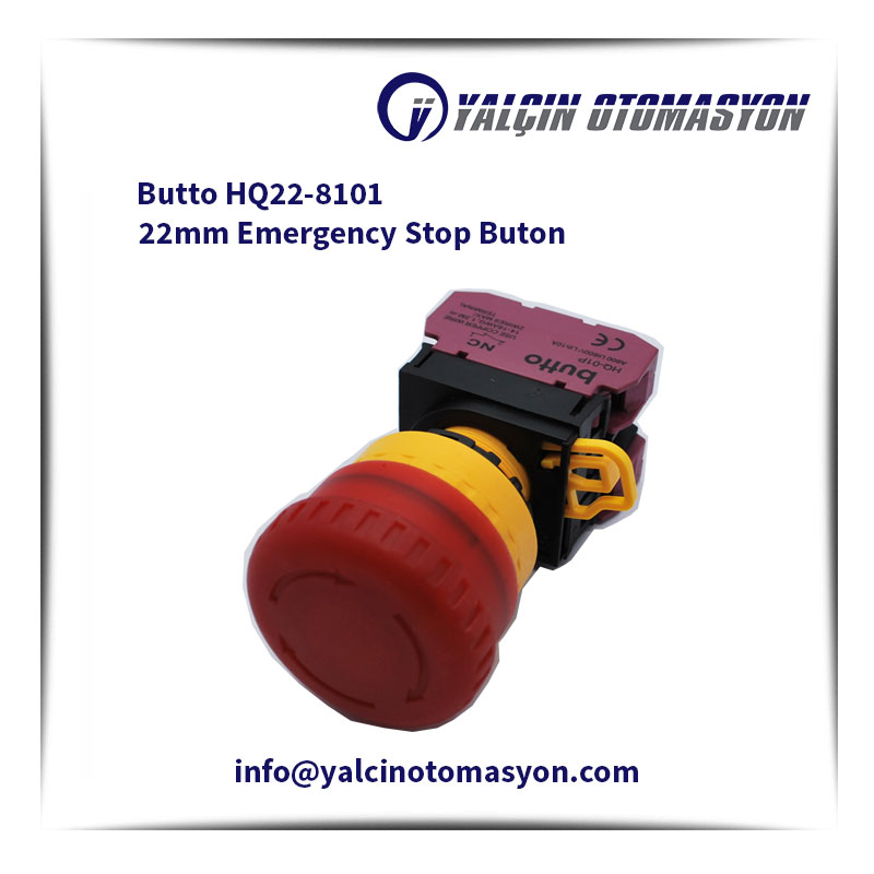 Butto HQ22-8101 22mm Emergency Stop Buton