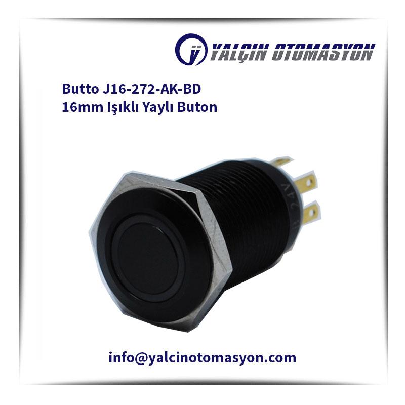 Butto J16-272-AK-BD 16mm Işıklı Yaylı Buton
