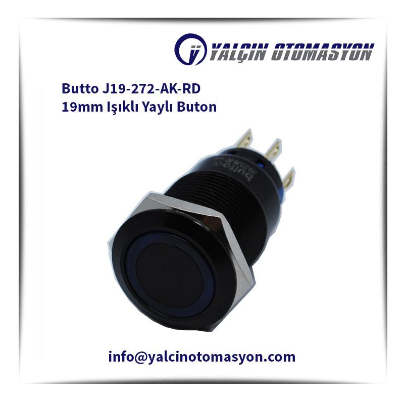 Butto J19-272-AK-RD 19mm Işıklı Yaylı Buton