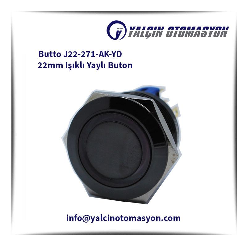Butto J22-271-AK-YD 22mm Işıklı Yaylı Buton