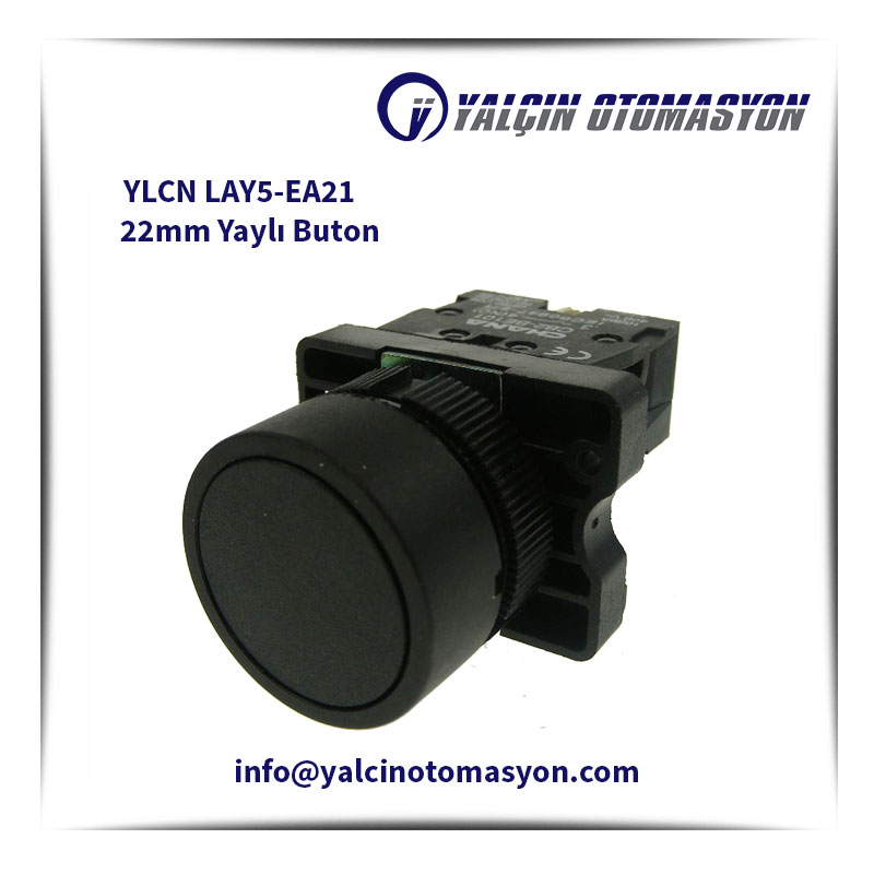 YLCN LAY5-EA21 22mm Yaylı Buton