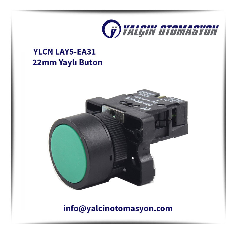 YLCN LAY5-EA31 22mm Yaylı Buton