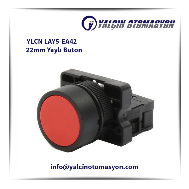 YLCN LAY5-EA42 22mm Yaylı Buton