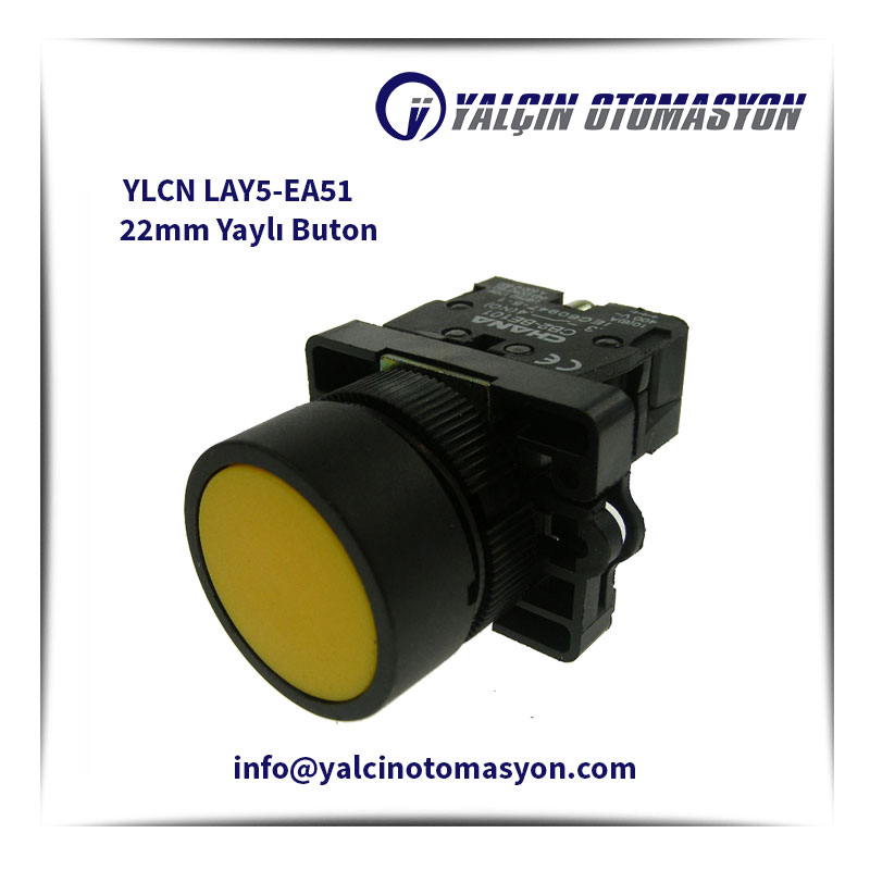 YLCN LAY5-EA51 22mm Yaylı Buton