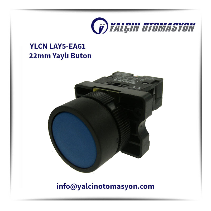 YLCN LAY5-EA61 22mm Yaylı Buton