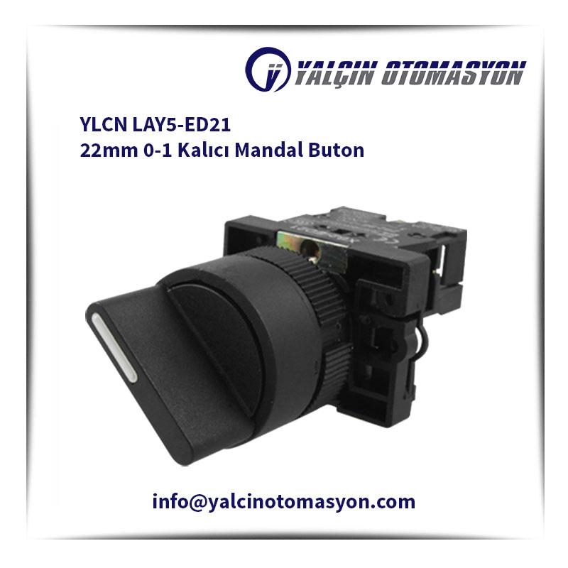 YLCN LAY5-ED21 22mm 0-1 Kalıcı Mandal Buton