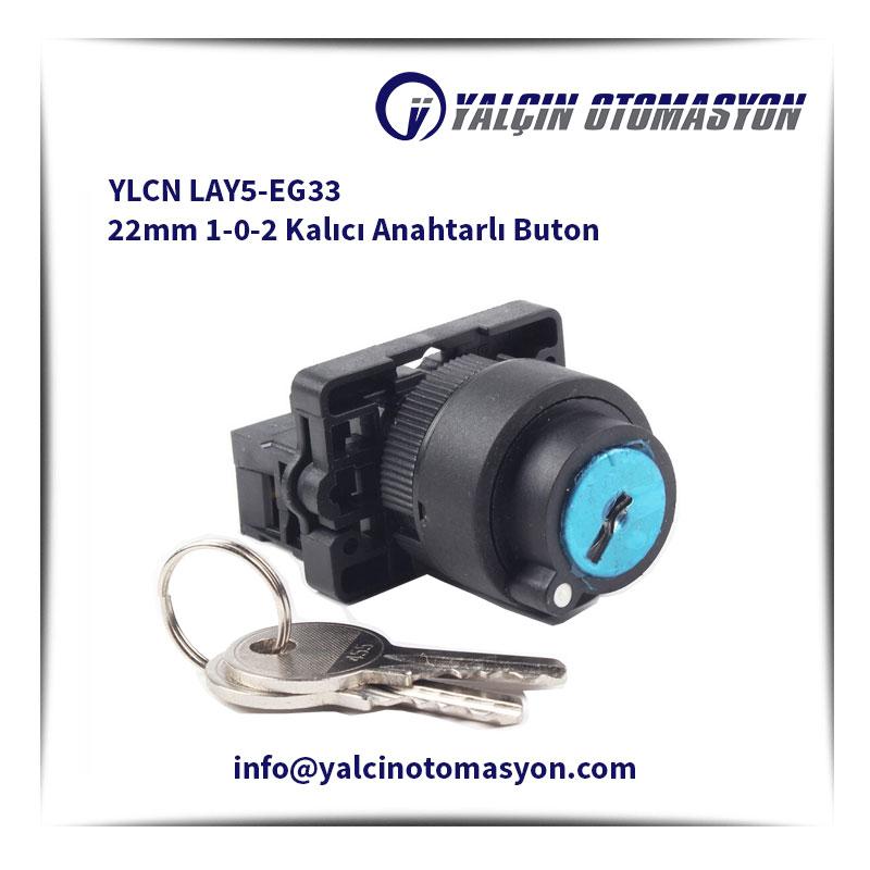 YLCN LAY5-EG33 22mm 1-0-2 Kalıcı Anahtarlı Buton