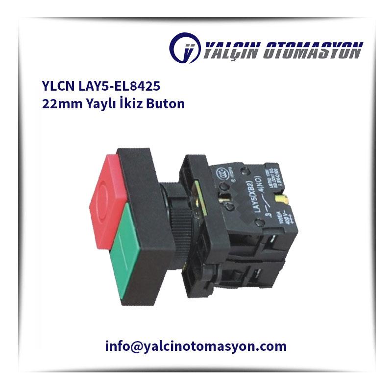 YLCN LAY5-EL8425 22mm Yaylı İkiz Buton