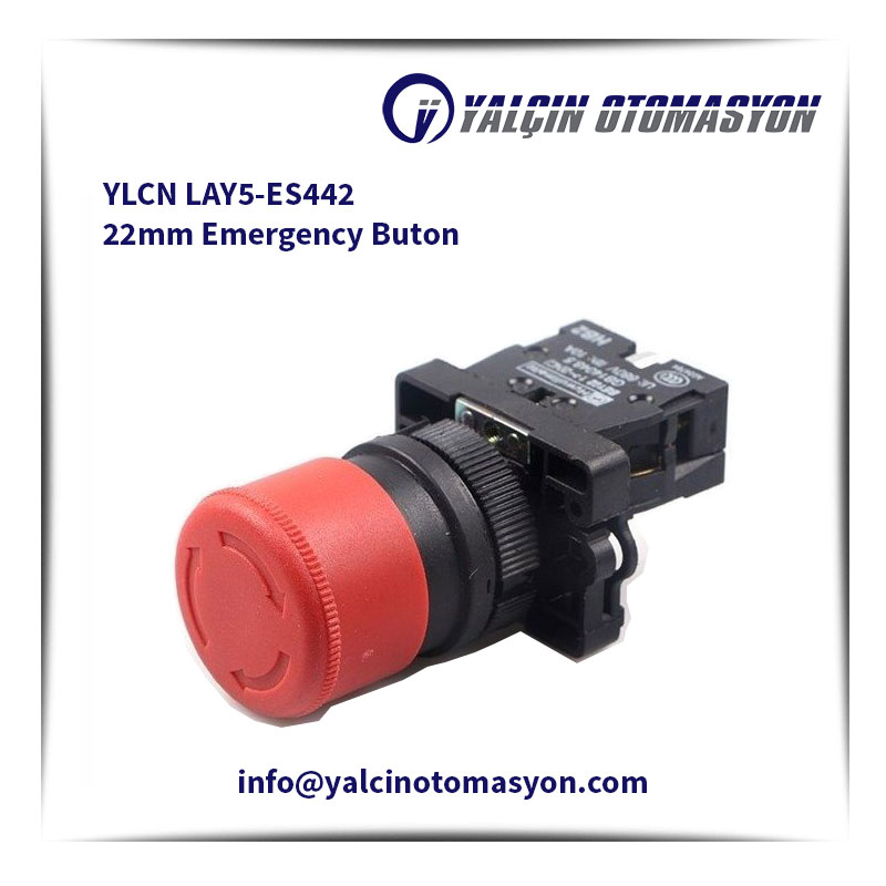 YLCN LAY5-ES442 22mm Emergency Buton