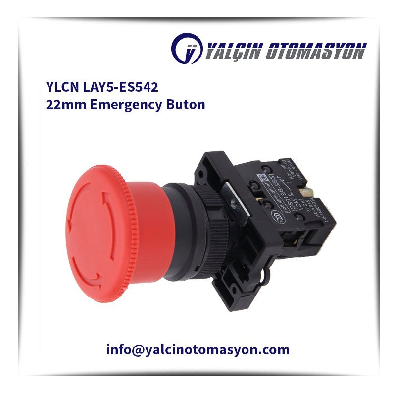 YLCN LAY5-ES542 22mm Emergency Buton