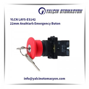 YLCN LAY5-ES142 22mm Anahtarlı Emergency Buton