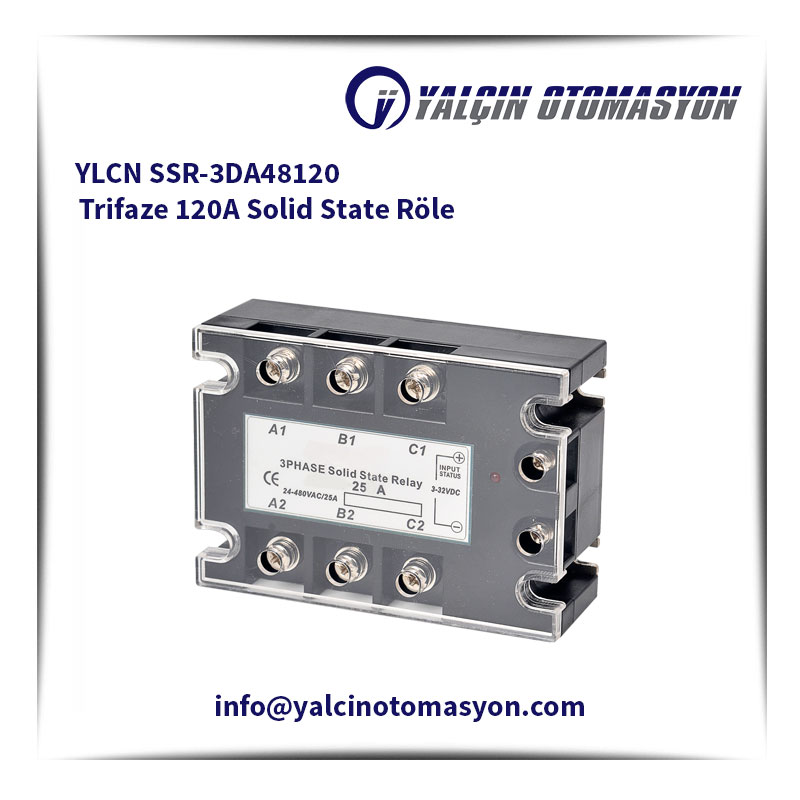 YLCN SSR-3DA48120 Trifaze 120A Solid State Röle