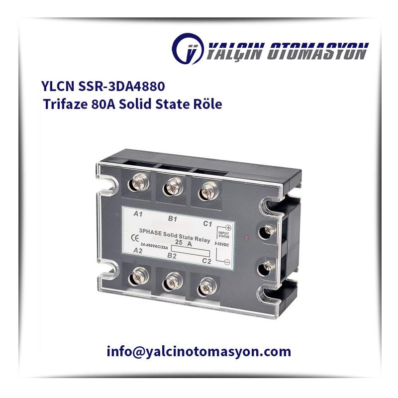 YLCN SSR-3DA4880 Trifaze 80A Solid State Röle