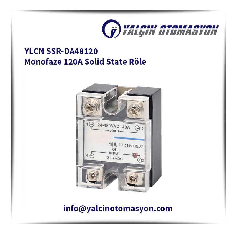 YLCN SSR-DA48120 Monofaze 120A Solid State Röle