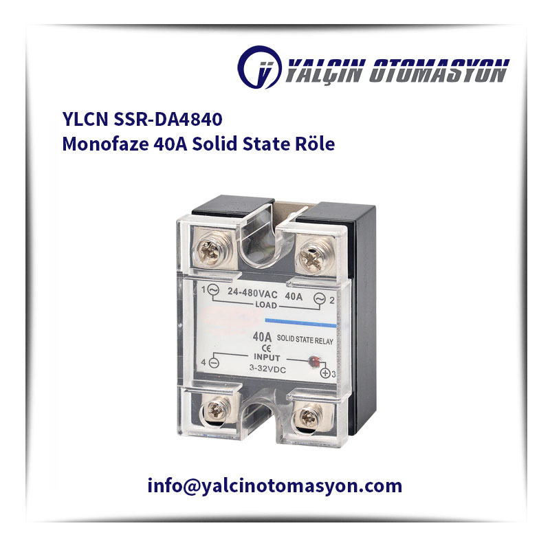 YLCN SSR-DA4840 Monofaze 40A Solid State Röle