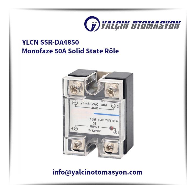 YLCN SSR-DA4850 Monofaze 50A Solid State Röle