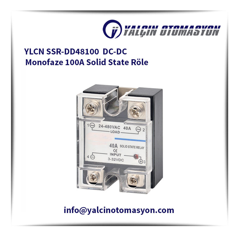 YLCN SSR-DD48100 DC-DC Monofaze 100A Solid State Röle