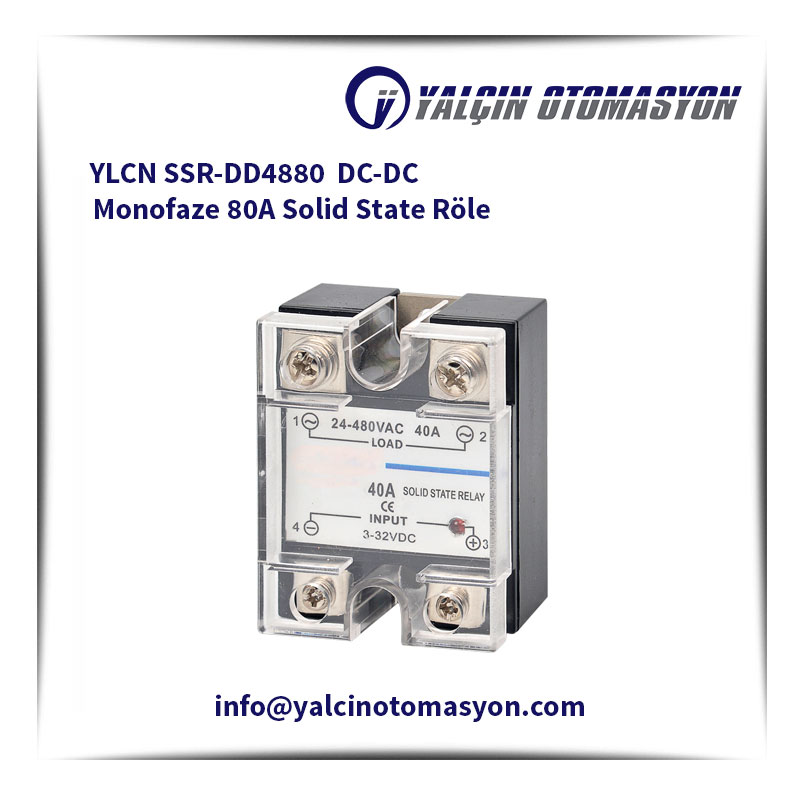 YLCN SSR-DD4880 DC-DC Monofaze 80A Solid State Röle